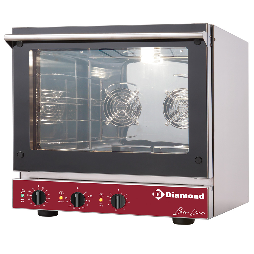 ELECTRIC CONVECTION OVEN + SALAMANDER BRIO43S/X-P