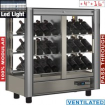 WINECOOLER 216 L MODULAR PASS TROUGH   PVV-2/TR
